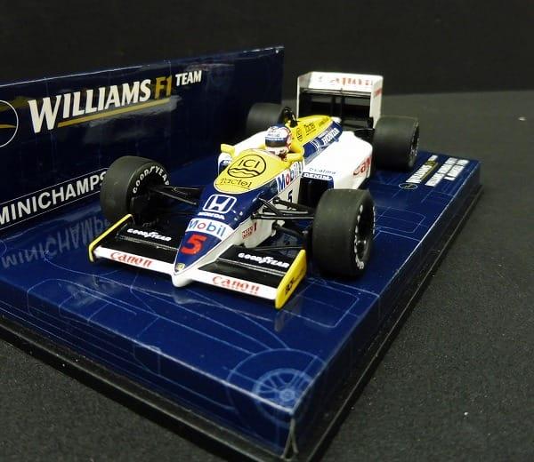 ミニチャンプス 1/43 ウィリアムスFW11 N.マンセル_2