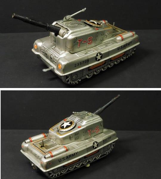 宇宙船 戦車 当時物 ブリキ / 電動 日本製_3