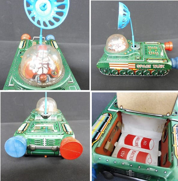 マスダヤ 当時物 電動ブリキ 戦車 Space Tank_2