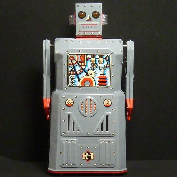 マスダヤ 復刻版 R-1 ロボットワン グレー ブリキ 電動_2