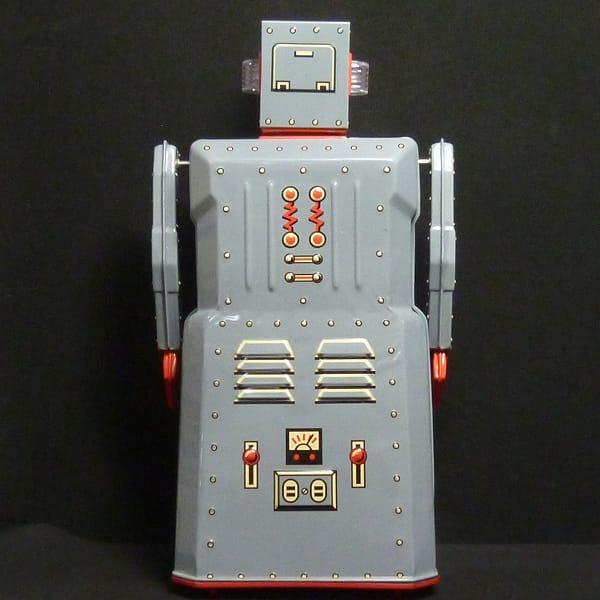 マスダヤ 復刻版 R-1 ロボットワン グレー ブリキ 電動_3
