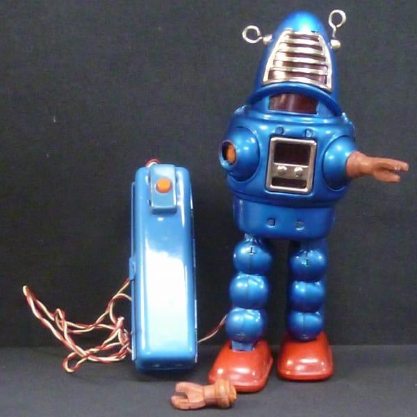 吉屋 プラネットロボット 青 ビンテージ ブリキ 電動_2