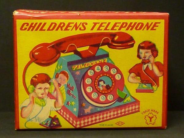 ヨネザワ 日本製 ブリキ でんわ TELEPHONE_1