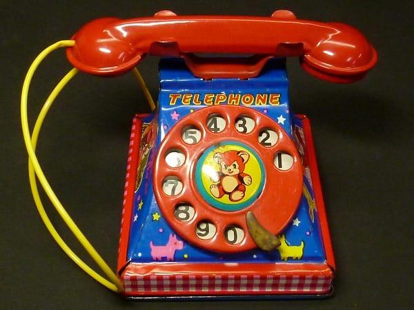 ヨネザワ 日本製 ブリキ でんわ TELEPHONE_2