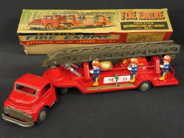 光球商会 当時 日本製ブリキ ハシゴ消防車 フリクション