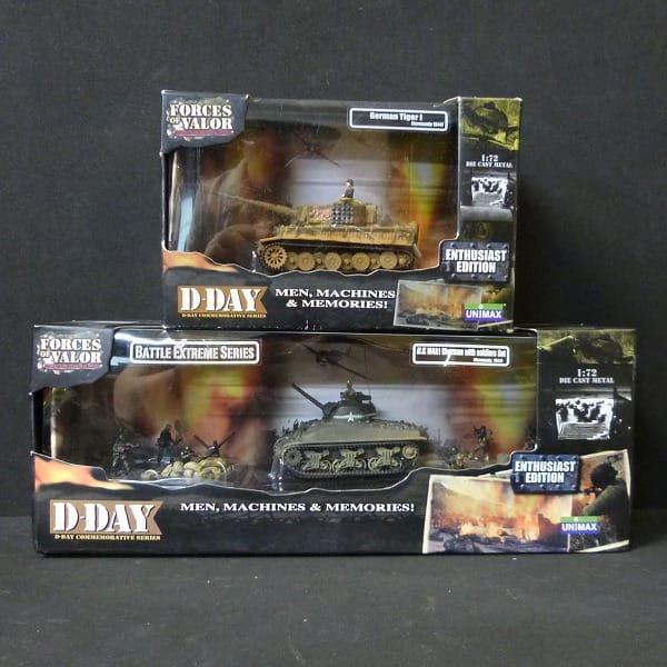 ユニマックス 1/72 独 ティーガーI US M4A1 シャーマン