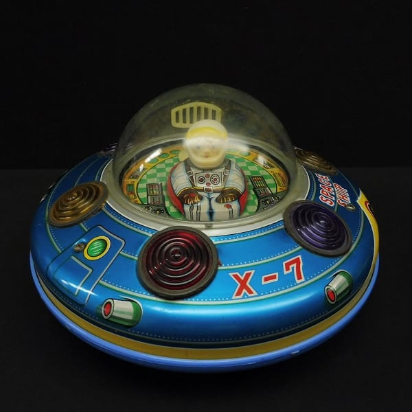 マスダヤ 当時物 電動ブリキ 円盤 スペースシップ X-7