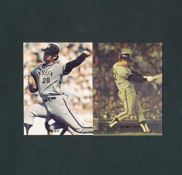 カルビー プロ野球カード 73年 100 江夏豊 107 田淵幸一