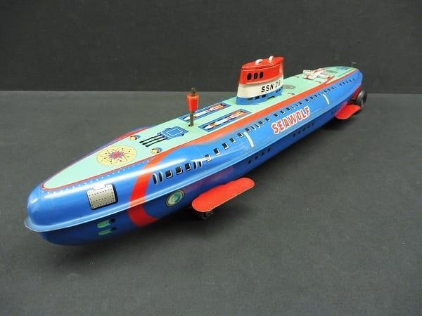 ヨネザワ 当時物 ブリキ 潜水艦 フリクション SEAWOLF