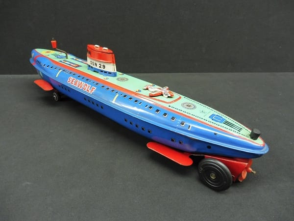 ヨネザワ 当時物 ブリキ 潜水艦 フリクション SEAWOLF_2