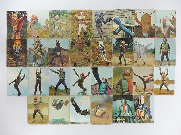 カルビー 旧 仮面ライダー カード 20 49 30枚 コンプ