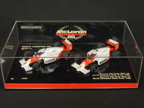 ミニチャンプス1/43 マクラーレン F1チャンピオン'85'86