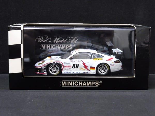 ミニチャンプス 1/43 ポルシェ911 GT3RS 2002 ルマン#80