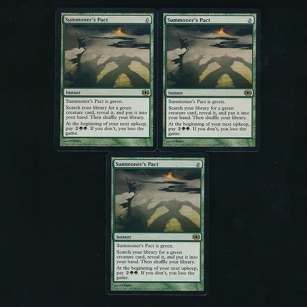 MTG 召喚士の契約 Summoner's Pact 英語 3枚 緑 モダン