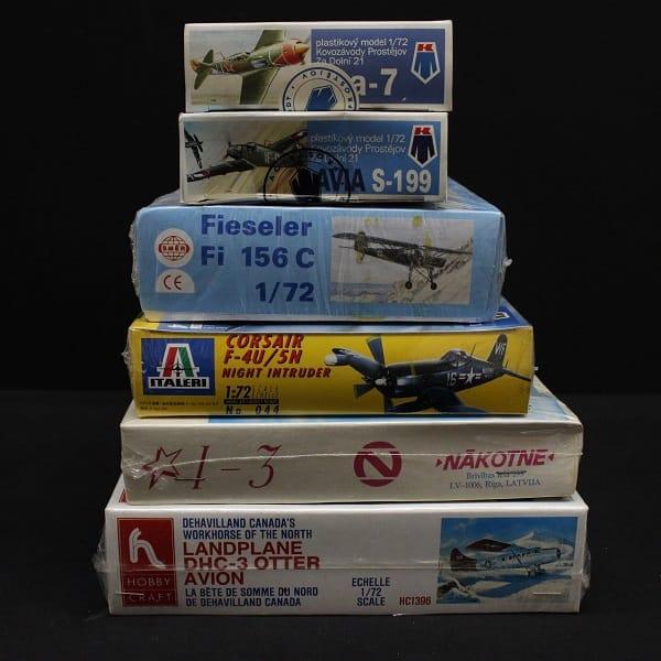 1/72 飛行機 プラモ デハビランド フィーゼラー AVIA等