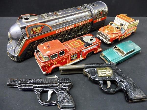 マスダヤ等 当時物 ブリキ玩具 フリクションカー 列車 他