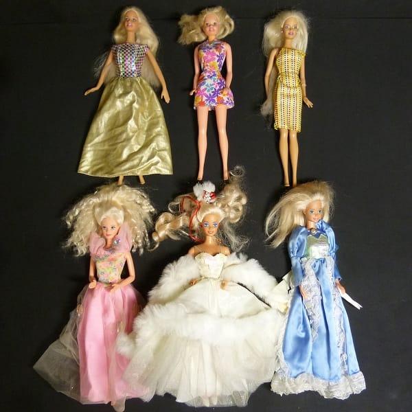 マテル Barbie ドール 人形 ドレス 花柄 他_1