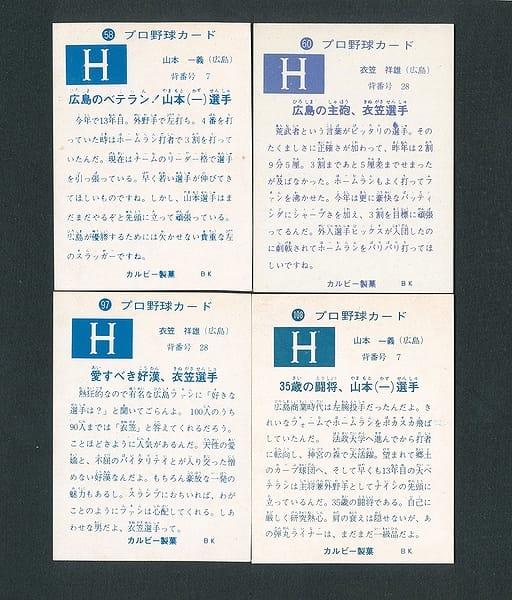 カルビー プロ野球カード 1973年 58 山本一義  60 衣笠_2