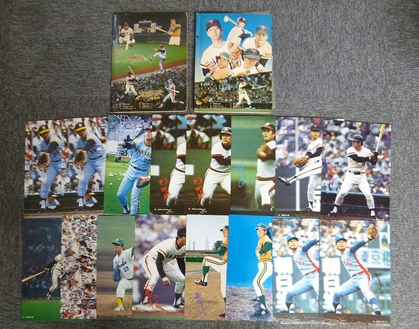 山勝 当時物 プロ野球カード 大判 ブロマイド アルバム_1
