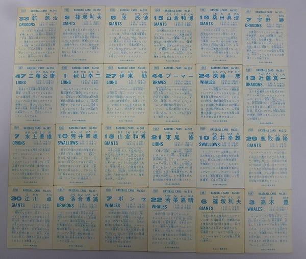 カルビー 当時 プロ野球カード 1987年 No.346~381 24枚_2