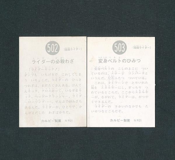 カルビー 旧 仮面ライダー カード 502 503 NR21版_2