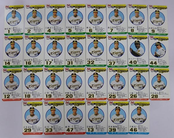 タカラ プロ野球ゲーム カード 56年度 阪神 30枚 ケース_2