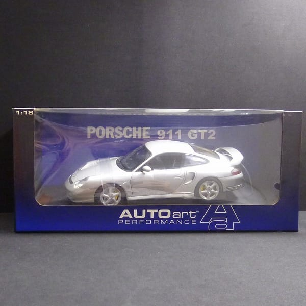 AUTO art PERFORMANCE 1/18 ポルシェ 911 GT2 シルバー