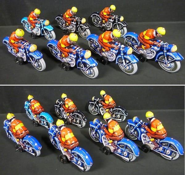 TINTOY ブリキのバイク 7台 / フリクション_2