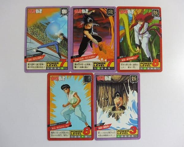 幽遊白書 カードダス スーパーバトル 隠れキラ 幽助 5枚_1