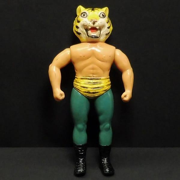 タイガーマスク 当時物 ソフビ 22cm
