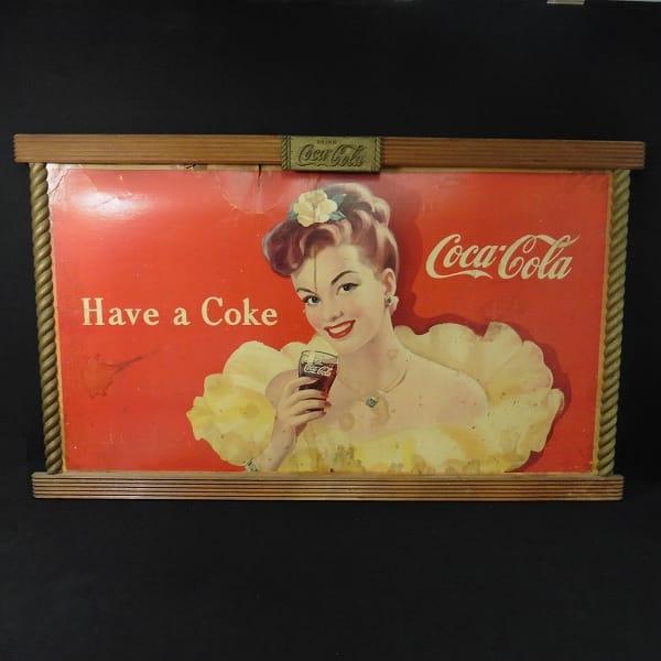 コカコーラ アメリカン 木製 看板 / 昭和 レトロ_1