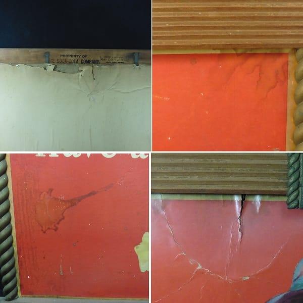 コカコーラ アメリカン 木製 看板 / 昭和 レトロ_3