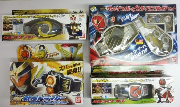 仮面ライダーベルト 4種 ウィザードライバー他 なりきり