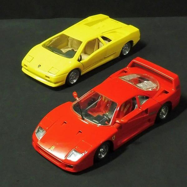 ブラーゴ 1/24 フェラーリ F40 赤 , ランボルギーニ 黄