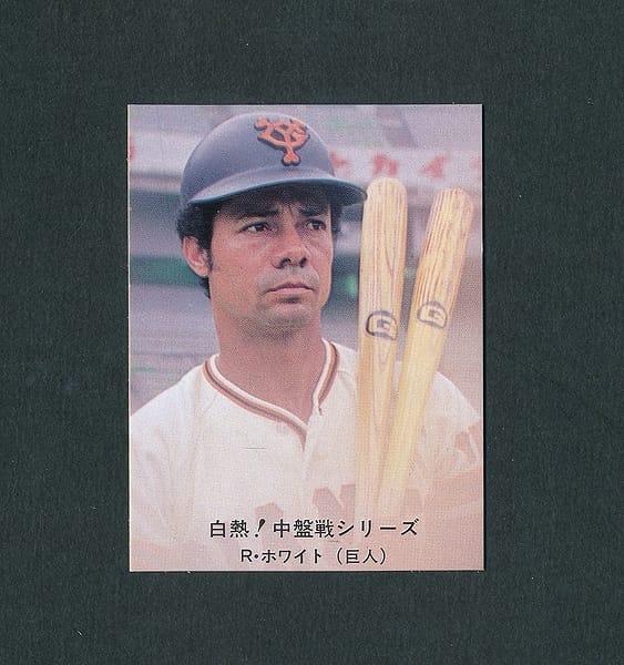 カルビー プロ野球カード 80年 124 ホワイト 裏黒