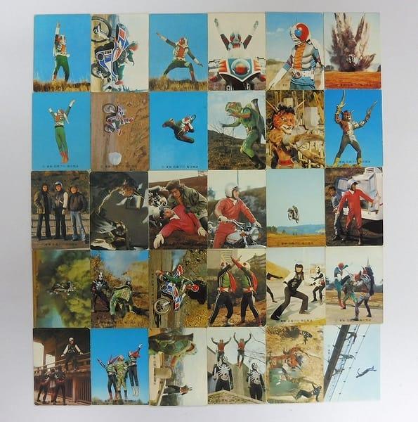 カルビー 旧 仮面ライダーV3 カード 1 30枚 セミコンプ