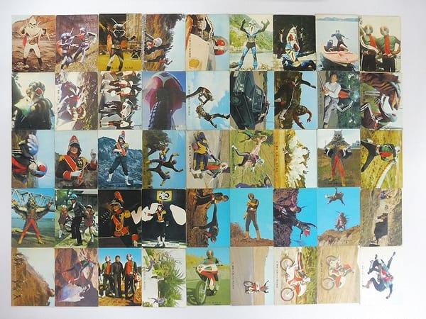 カルビー 当時物 旧 仮面ライダー カード 211 496 45枚_1