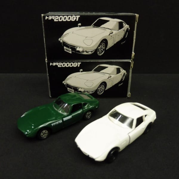 トヨタ博物館 特注 日本製 トミカ 2000GT 白 緑 / TAM_1
