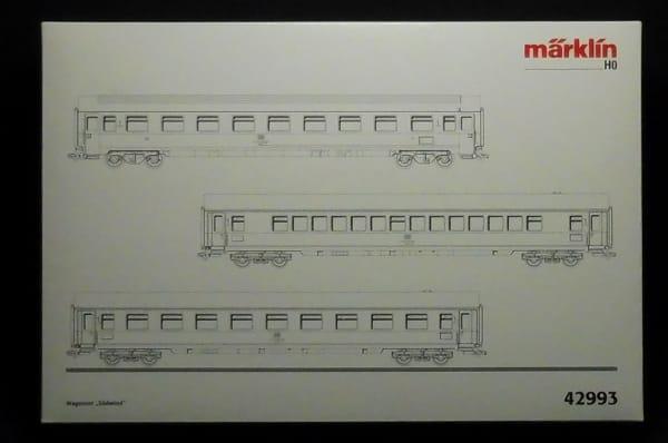 HOゲージ メルクリン 42993 Suedwind 客車セット / DB