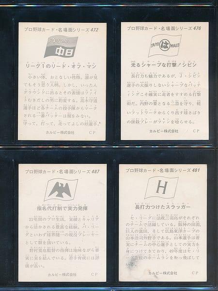 カルビー プロ野球カード 74年 名場面シリーズ 472 476_2