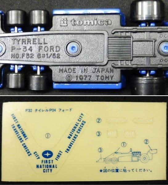 青箱 日本製トミカ タイレルP34 フォード_3