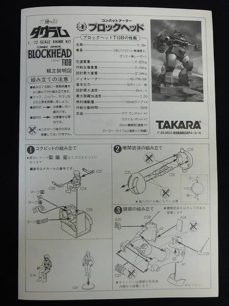タカラ 1/72 ダグラム ブロックヘッド T-10B_3
