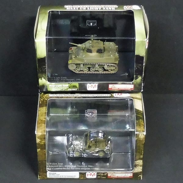 HM 1/72 M5A1 スチュアート 英軍 ウィリス ジープ 米軍_1