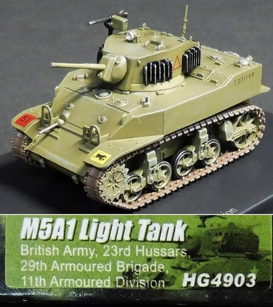 HM 1/72 M5A1 スチュアート 英軍 ウィリス ジープ 米軍_2