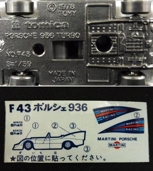 青箱 日本製トミカ 外国車シリーズ ポルシェ936ターボ_3