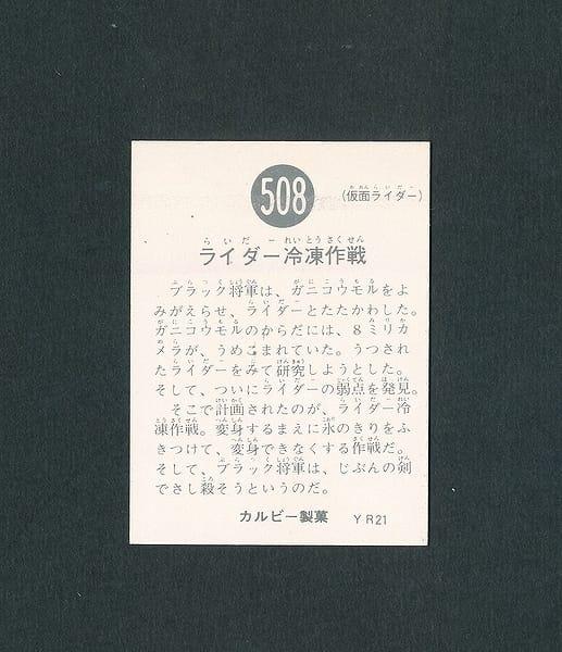 カルビー 旧 仮面ライダースナックカード 508 YR21_2