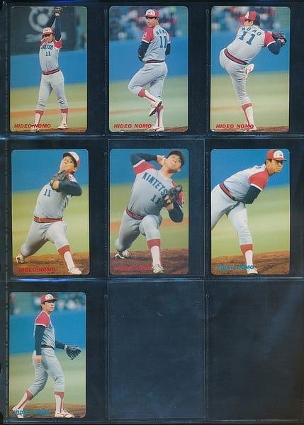 カルビー プロ野球カード 1991年 野茂秀雄 No.61 62 63_1
