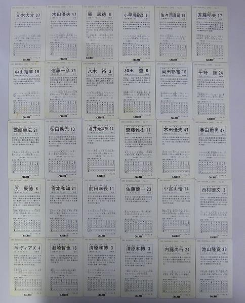 カルビー プロ野球チップス カード 1991 No.1~32 30枚_2