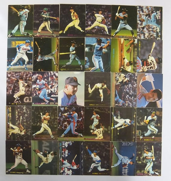 カルビー 当時 プロ野球カード 1981年 No.286~322 30枚