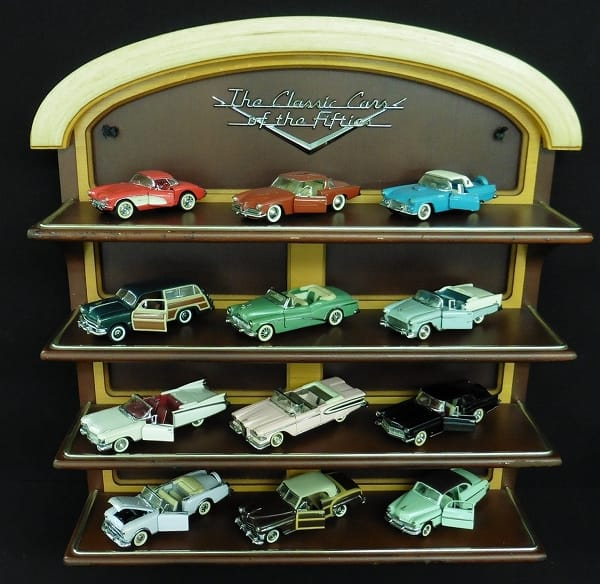 フランクリンミント ミニカー 12台 , ディスプレイ台